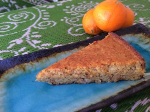 Whole ground tangerines, almonds, eggs and sugar make this cake a perfect little baking marvel.